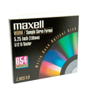 Maxell MO WORM-Disk LM510 654 MB NEU